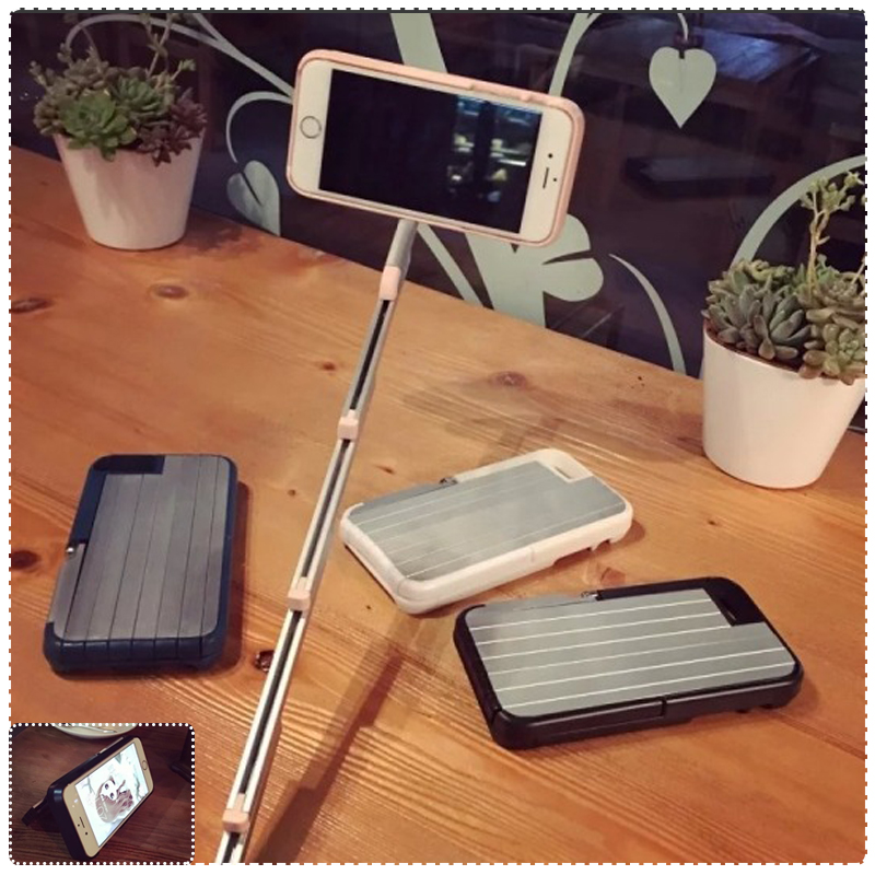 創意stikbox同款 iphone6s plus 5.5 手機伸縮自拍桿自拍神器自拍保護殼 鋁合金手機殼