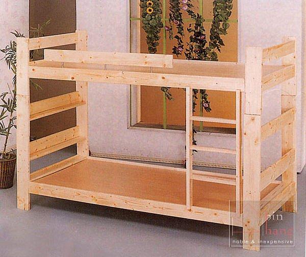 【尚品傢俱】GF-E06 松木實木3.5尺房間上下舖床台雙層床
