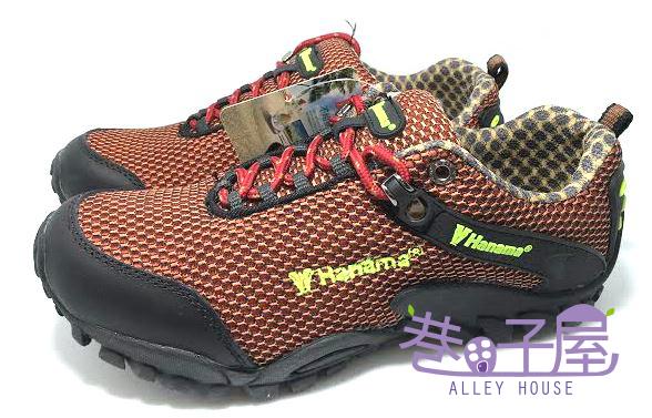 【巷子屋】HANAMA悍馬 男/女款零負擔戶外運動鞋/登山鞋 [4519] 紅咖 超值價$690