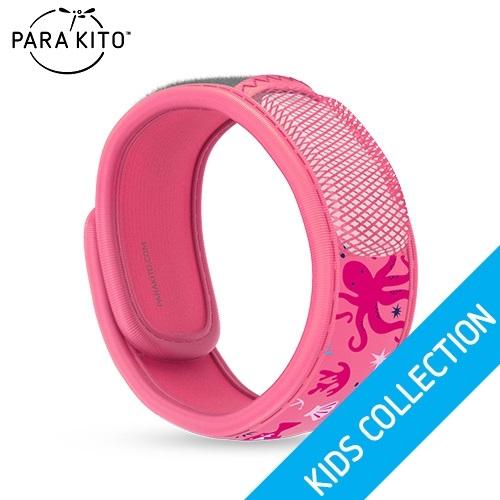 【買任3個送妖怪手錶驅蚊貼片】法國【Para''Kito】天然防蚊手環(粉紅海洋)
