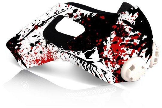 三鐵~馬拉松~鐵人單車訓練高海拔面罩Training Mask 2.0 面罩皮-殺戮戰場款M size