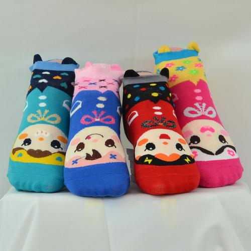 [Waylon] 可愛小甜甜圖案襪邊飾邊棉質短襪                           [建議合適鞋號:34-40]