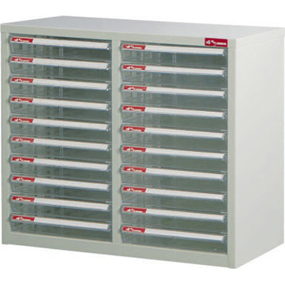 【文具通】A4-220P桌上二排型資料櫃(透明抽) A0680037