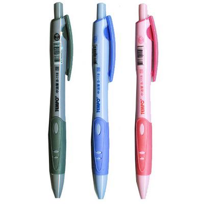 【文具通】TEMPO 節奏 B-118 自動0.6mm原子筆 紅 A1011366