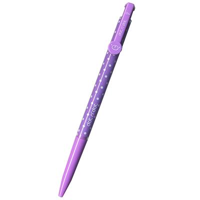 【文具通】TEMPO 節奏 B-103P 0.4點點中油筆 紫 A1011557