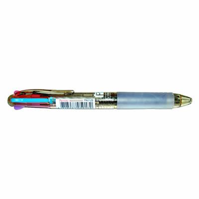 【文具通】Penrote 筆樂 NO.PA0125 4色原子筆透明茶桿 A1011655