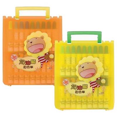 【文具通】雄獅奶油獅塑盒彩色筆36色 A1020327