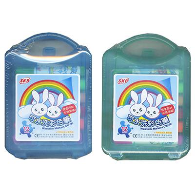 【文具通】SKB 文明 CW-90 可水洗彩色筆12色 A1020367