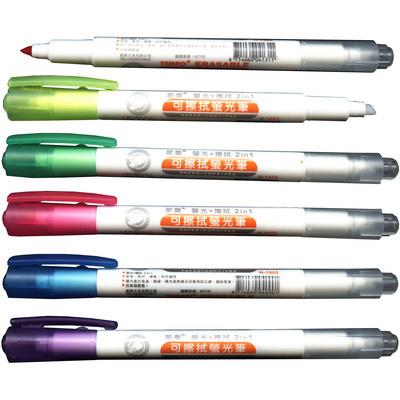 【文具通】TEMPO 節奏 H-1502 可擦式螢光筆 紫 A1040401