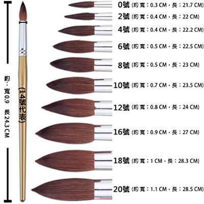 【文具通】Pentel 飛龍 ZBS1-0 水彩畫筆 圓頭型 A1060012