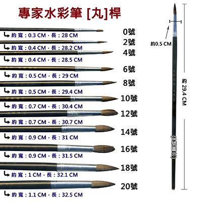 【文具通】A專家10號水彩筆[丸] A1060207