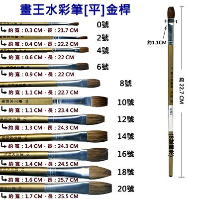【文具通】A畫王0號水彩筆[平]金桿 A1060213