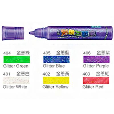 【文具通】雄獅玻璃彩繪工藝筆[金蔥白]401 A1210250
