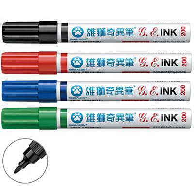 【文具通】SIMBALION 雄獅NO.200 油性奇異筆1.2mm 紅 A1250007