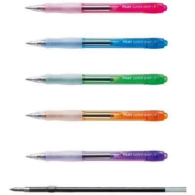 【文具通】PILOT 百樂 BP-GP-10N 透明七彩舒寫筆 0.7 紫 A1300551