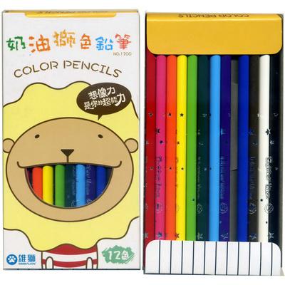 【文具通】SIMBALION 雄獅 1200 12色長支紙盒色筆 A1340002