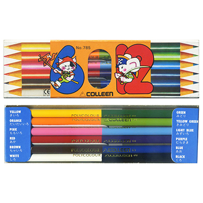 【文具通】日本COLLEEN 6x12色鉛筆NO.785