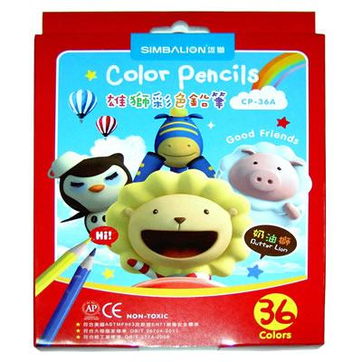 【文具通】SIMBALION 雄獅 奶油獅六角色鉛筆36色 CP-36A A1340265