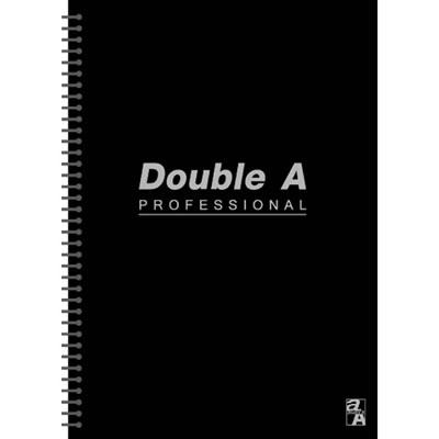 【文具通】Double a A5 25k50張入活頁筆記本 黑 A3011256