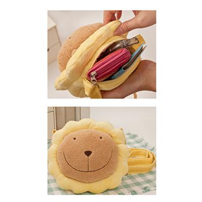 【文具通】SA010奶油獅絨毛斜背包