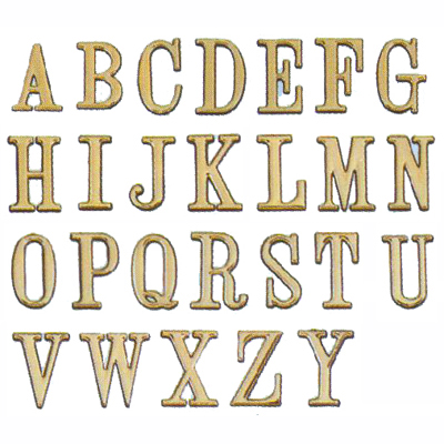 【文具通】DIY 圓弧燙金英文字標示牌 可貼 J 5cm AA010484