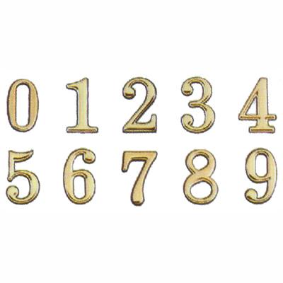 【文具通】DIY 圓弧燙金數字標示牌 可貼 3cm AA010858