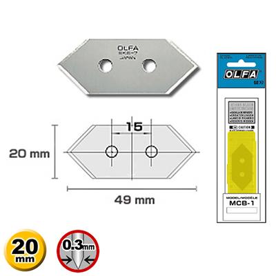 【文具通】OLFA 畫框45角切割刀片 MCB-1 MC-45/2B用 5片入 B4010253