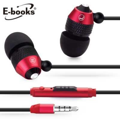 【文具通】E-books S14 音控接聽鋁製耳道式耳機 E-EPA074