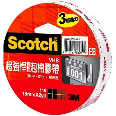 【文具通】3M 118 24mmx2y超強悍雙面泡棉膠 E1030402