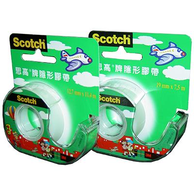 【文具通】3M Scotch 105A 3/4吋膠帶 附台 E1040002