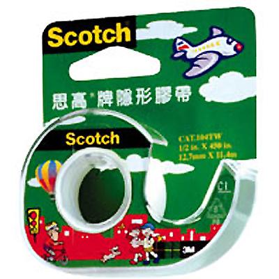【文具通】3M Scotch 104A 1/2吋膠帶 附台 E1040007