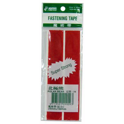 【文具通】北極熊粘扣帶[紅] 25mm*150mm E1130006