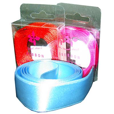 【文具通】1cm透明盒入緞帶[混色] E1150003