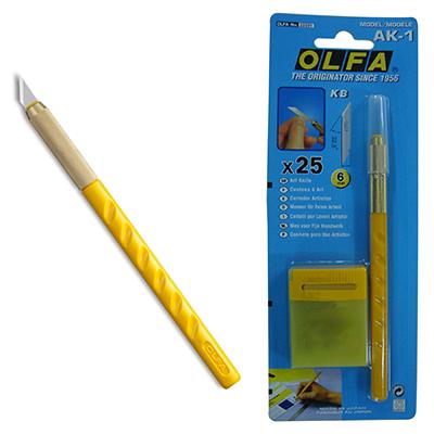 【文具通】OLFA 筆刀 AK-1 附刀片25片入 E2010001