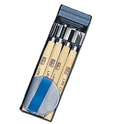 【文具通】Life 徠福 專家用雕刻刀 4支入 (附護手墊?磨刀石)NO.2106 E2050018