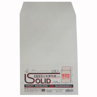 【文具通】EFFORT 巨匠 常用牛皮立體公文袋5入 E7050359