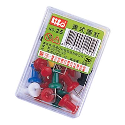 【文具通】LIFE NO.25美式塑膠圖釘25支入 E9010051