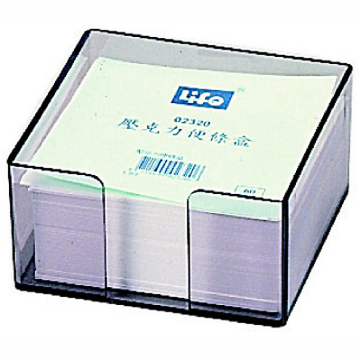 【文具通】LIFE 2320壓克力便條盒440張入 F5010168