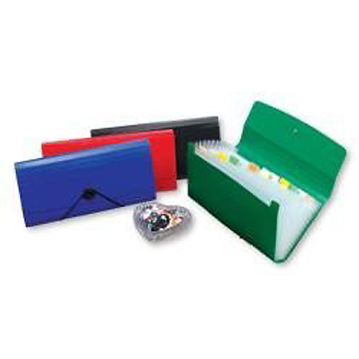 【文具通】12層分類公事包(小型) 藍 HFF4303B1
