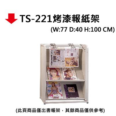 【文具通】TS-221烤漆報紙架