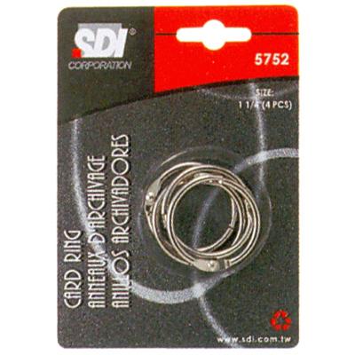 【文具通】SDI 順德 5752/0752D 11/4吋 卡片圈 4入 K5010013