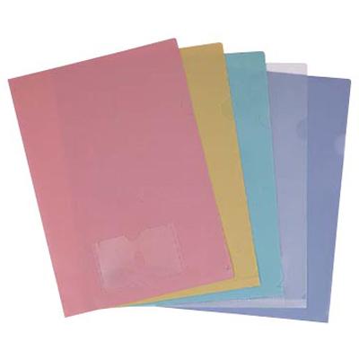 【文具通】連勤E315PP粉彩文件夾附名片袋黃 L1020321