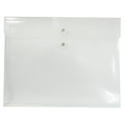 【文具通】橫式A4附繩PP透明文件袋[白]EN02 L1020390