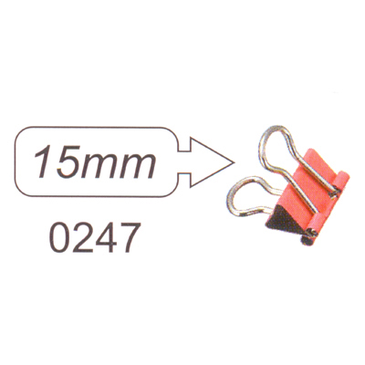 【文具通】SDI 順德 0247 彩色長尾夾15mm L1090021