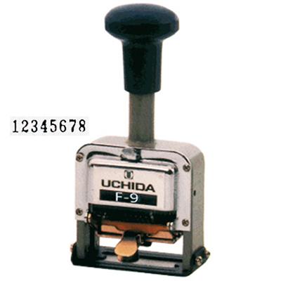 【文具通】UCHIDA 內田洋行 日本製自動號碼機F-9 10位數 L5050012