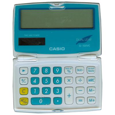 【文具通】CASIO SL-100VCBU 8位計算機藍5.5x9 L5140140