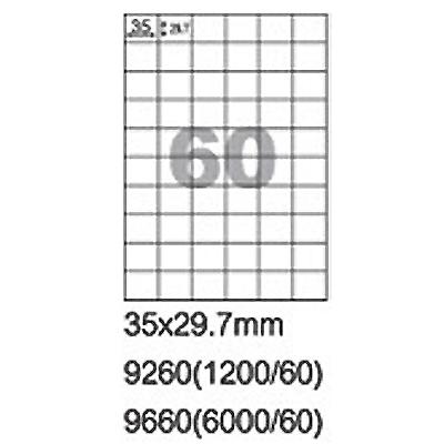 【文具通】阿波羅9260影印自黏標籤貼紙60格35x29.7mm P1410391
