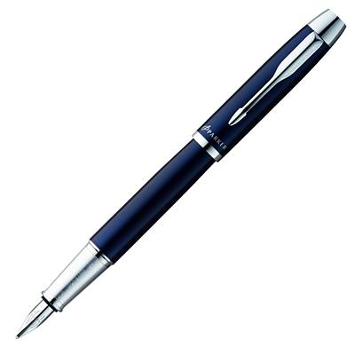 【文具通】PARKER 派克 PARKER IM 經典系列-海洋藍白夾鋼筆/F PK-P0856010