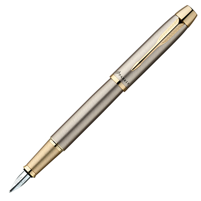【文具通】PARKER 派克 PARKER IM 經典系列-鋼桿金夾鋼筆/F PK-P0856030