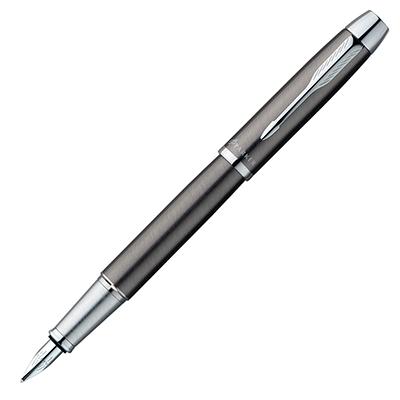 【文具通】PARKER 派克 PARKER IM 經典系列-金屬灰白夾鋼筆/F PK-P0856040